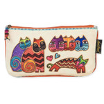 Laurel Burch 10x6 Cosmetic Bag Karlys Cat Floating LB5337C