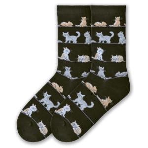 Frisky Cats Socks - Black - KBWF16H009-01