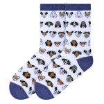 Dog Profile Faces Socks - White - KBWF16H015-01