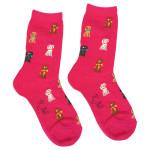 Playful Pups Dog Theme Socks - Fuchsia - KB61648-P