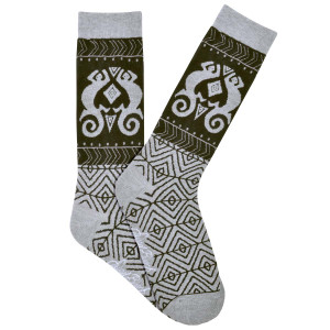 Mens Laurel Burch Lizzard Shapes MENS Crew Socks - LBMS16H019-01