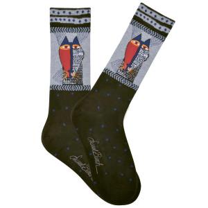 Mens Laurel Burch Native Tribal Cat MENS Crew Socks - LBMS16H020-01