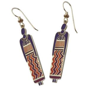 Laurel Burch Ancestor Woman Enamel Drop Earrings - CDR141E