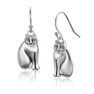 Mystic Cat Sterling Silver Laurel Burch Earrings - LBJ4035
