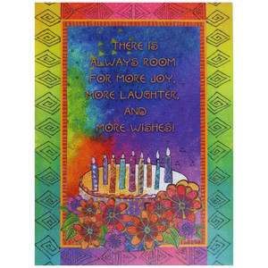 Laurel Burch Birthday Card - Wishing You a Day: Front View