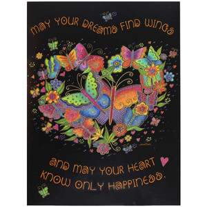 Laurel Burch Birthday Card - Butterfly Heart : Front View