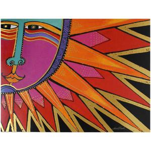 Laurel Burch Birthday Card - Aztec Sun : Front View