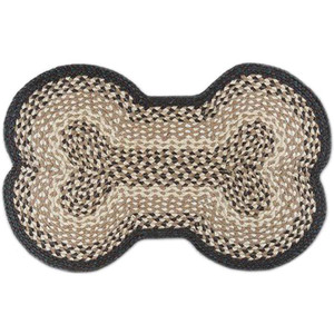 "Dog Bone Rug 18"" x 28"" by Earth Rugs- DB-017 Deep Green/Tan/Cream/White"