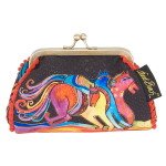 Laurel Burch Coin Purse Caballos de Colores Horses LB5902F