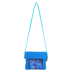 Laurel Burch Indigo Cats Flap Over Crossbody Tote - LB5904G