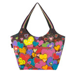 Laurel Burch Dancing Hearts Scoop Tote - LB6011 Back