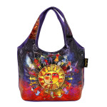 Laurel Burch Harmony Under Sun Foiled Canvas Small Scoop Tote - LB6262