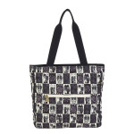 Laurel Burch Black White Wild Cats Shoulder Tote - LB5990