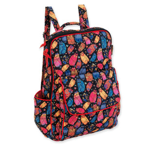 Laurel Burch Multi Feline Quilted Cotton BackPack LB6310