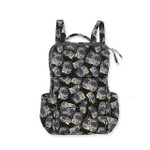 Laurel Burch Black White Polka Dot Wild Cats Quilted Cotton BackPack LB6335