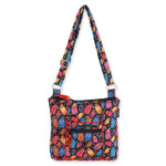 Laurel Burch Multi Feline Cats Quilted Cotton N/S Crossbody Bag LB6305