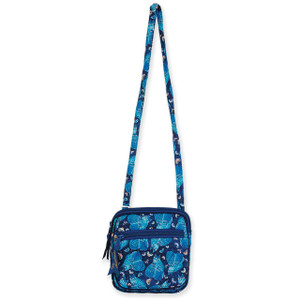 Laurel Burch Indigo Cats Quilted Cotton Small Crossbody Bag LB6325