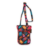 Laurel Burch Multi Feline Cats Quilted Cotton Small Flapover Crossbody Bag LB6312
