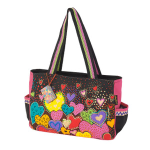 Laurel Burch Dancing Hearts Medium Tote - LB6012
