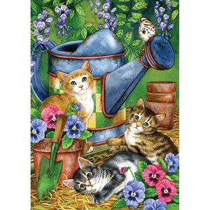"Cat Garden Flag ""Garden Kitties"" - 111178"
