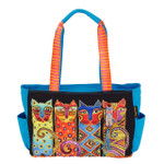 Laurel Burch Feline Clan Medium Tote - LB6101