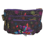 Laurel Burch Dog Papillion 3 BAG SET Cosmetic Bags LB6220