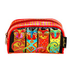 Laurel Burch Feline Clan Cats Foil Cosmetic Bag LB6210C
