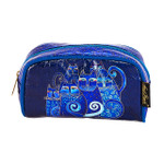 Laurel Burch Indigo Cats Foil Cosmetic Bag LB6210D