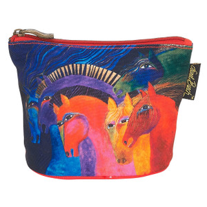 Laurel Burch Mythical Horses Cosmetic Clutch Pouch Wild Horse of Fire LB6290F
