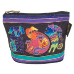 Laurel Burch Dog Doggies Cotton Canvas Cosmetic Bag Canine - LB6300D