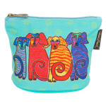Laurel Burch Dog Cotton Canvas Cosmetic Bag Papillion Pups - LB6300A