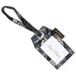 Laurel Burch Black White Polka Dot Wild Cats Single Luggage Tag LB6347C
