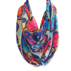 Laurel Burch Dogs Papillion Artistic Infinity Scarf LBI211
