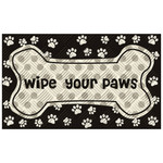 "Wipe Your Paws Embossed Floor Mat - 18""x 30""- 41EM2167"
