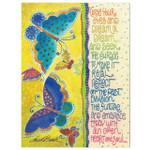 Laurel Burch Glitter Birthday Card - Butterfly Dream - Front