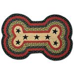 Black Stars with Red Dog Bone Rug