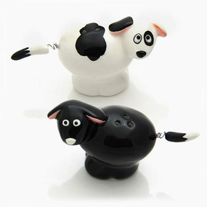 Dog Salt and Pepper Stoneware Shakers 4020628
