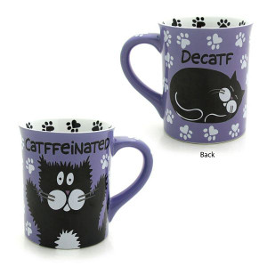 "Cat Theme Mug ""Catffeinated or Decatf"" - 4026111"