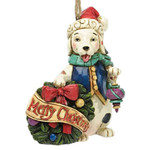 Merry Christmas Sitting Dog Ornament 4034409