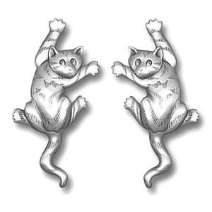 Cat Climbers Pewter Earrings 1023EP