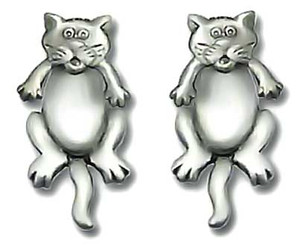 Cat Front & Back 2-Piece Post Earrings - 1051/1EP