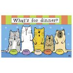"Cat Floor Mat ""Whats for Dinner"" 19511D"