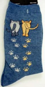 Cat Socks Catwalk - Denim Blue - 61316B