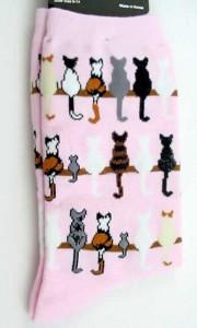 """Cat Socks """"Cat Tails"""" - Pink - 61566"""