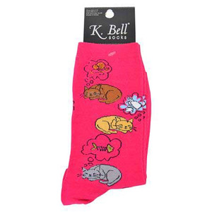 Cat Nap Socks Dark Fushsia 61566DF