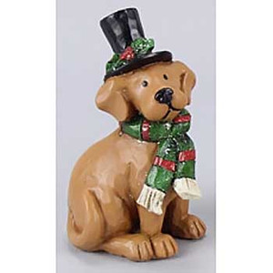 Dog Wearing Top Hat Figurine 93204D
