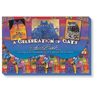 "Laurel Burch Greeting Card Assortment - 20 cards ""Celebration of Cats"" - AST90730"