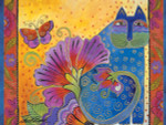 "Laurel Burch Card Birthday ""Blossoming Spirits"" - BDG13231"