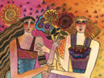 "Laurel Burch Card Birthday ""Giving Friends"" - BDG13238"