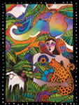 "Laurel Burch Card Birthday ""Rainbow Forest"" - BDG13240"